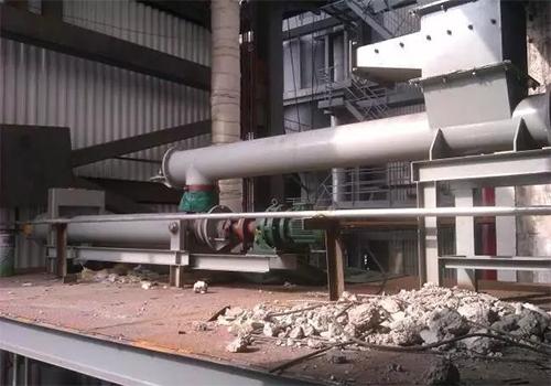 宁波垃圾环保电厂螺旋给料机安装现场